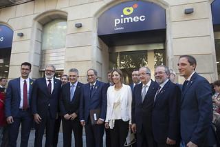 Divendres, 28 d'octubre, es va inaugurar la nova seu de PIMEC Lleida, amb la presència de Quim Torra, President de la Generalitat, i Àngels Chacón, consellera d'Empresa i Coneixement.