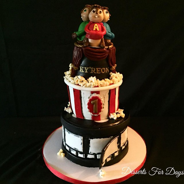 Alvin & The Chipmunks Movie Theme Cake by Desserts For Days