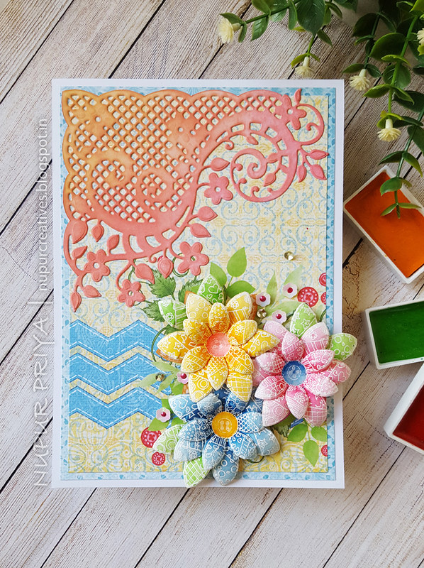 Buttons & Blooms Card 1