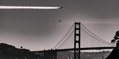 Blue Angels busting the Golden Gate Bridge tower