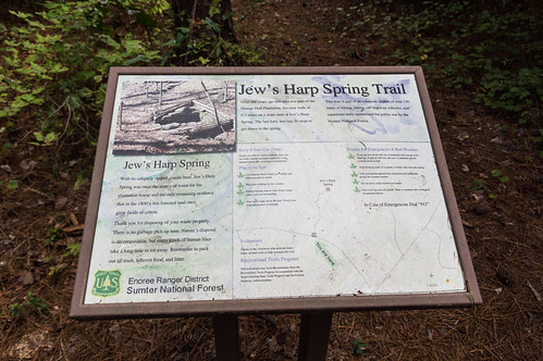 Jew's Harp Spring Trail signs - 2