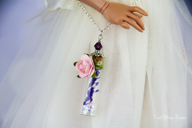 OOAK Fairy glass bags with natural flowers