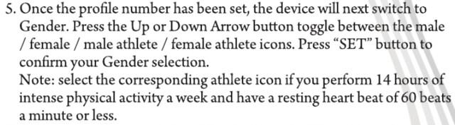 athlete: 14hrs/wk, or < 60 bpm