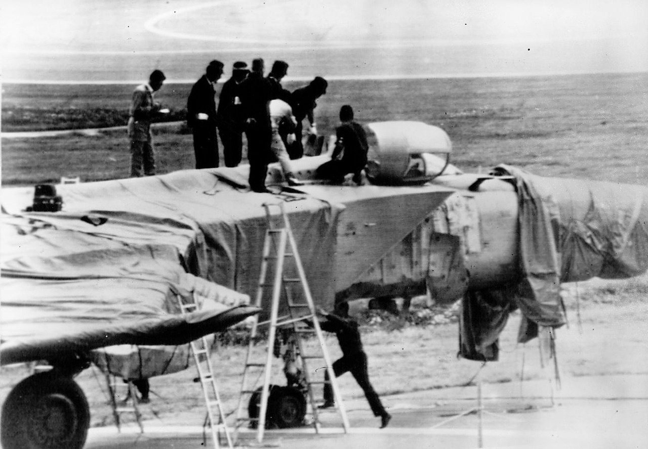 Soviet MiG-25P at Hakodate Airport, Japan, September 6, 1976. V-PVO Viktor Belenko pilot defected in this then state of the art fighter plane.