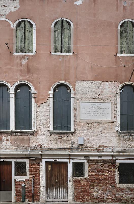 Francesco Guardi's House, Campiello de la Madona, Cannaregio, Venice.