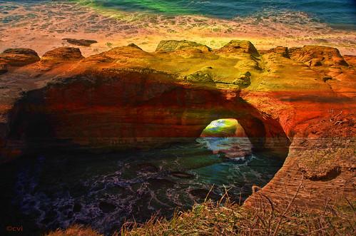 devilspunchbowl pacificcoast colors outdoors nikon d7000 pse14 topaz oregon centraloregoncoast
