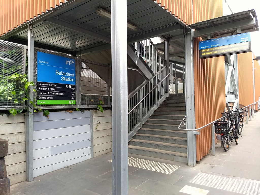 Balaclava station entrance