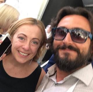 Sandro Laera e Giorgia Meloni