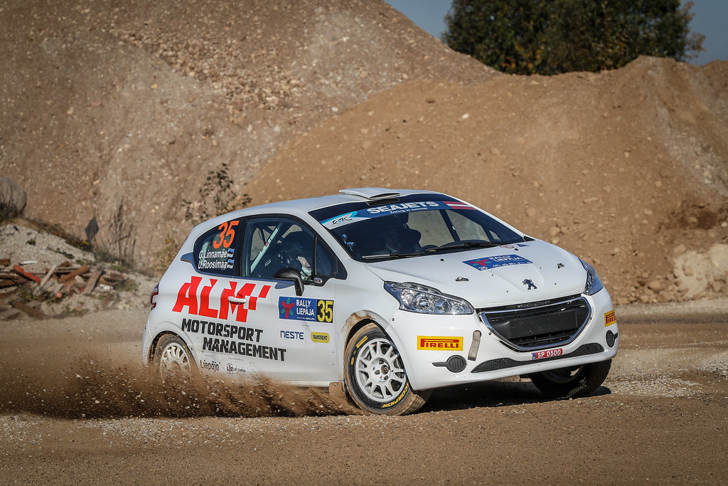 35 LINNAMAE Georg, (EST), Urmas ROOSIMAA, (EST), ALM Motorsport, Peugeot 208 R2, Action during the 2018 European Rally Championship ERC Liepaja rally,  from october 12 to 14, at Liepaja, Lettonie - Photo Alexandre Guillaumot / DPPI