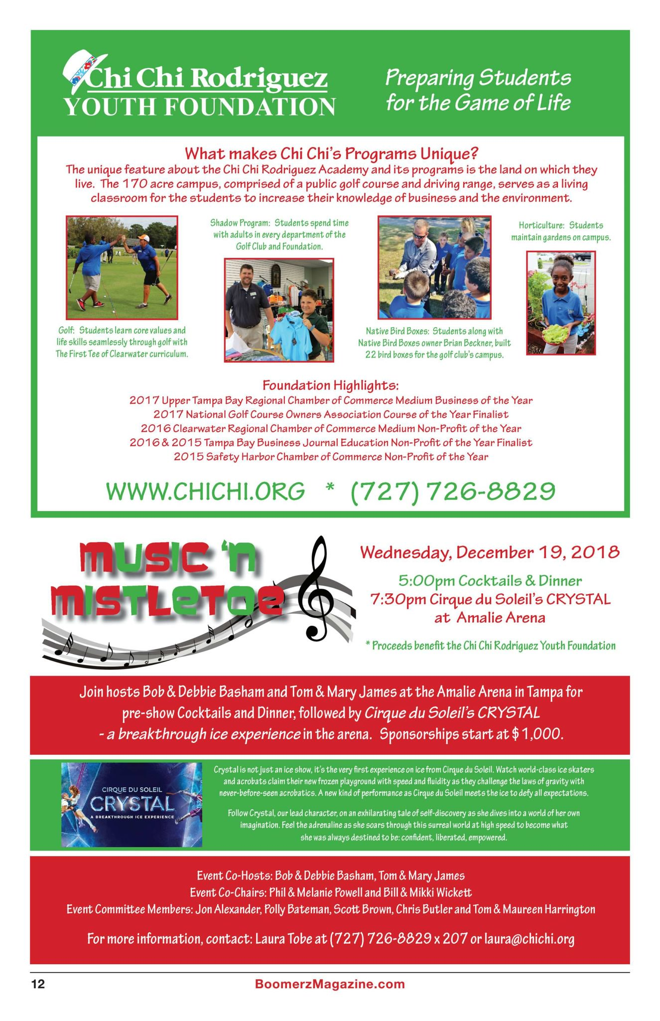 Boomerz Magazine 2018 November Chi Chi Rodriguez Youth Foundation