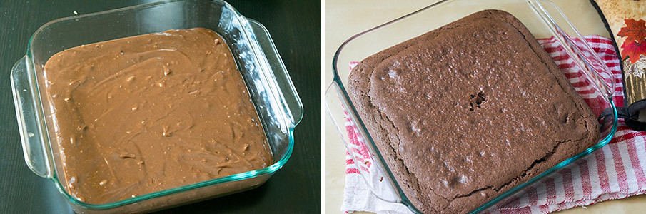 Eggless Brownie Recipe cooking steps by GoSpicy.net