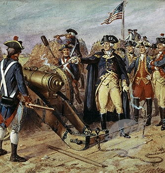 [Washington Firing the First Gun]
