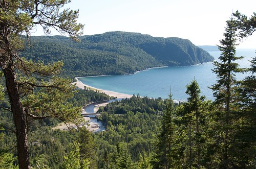 Lake Superior Park from the top of Old Woman Bay hike