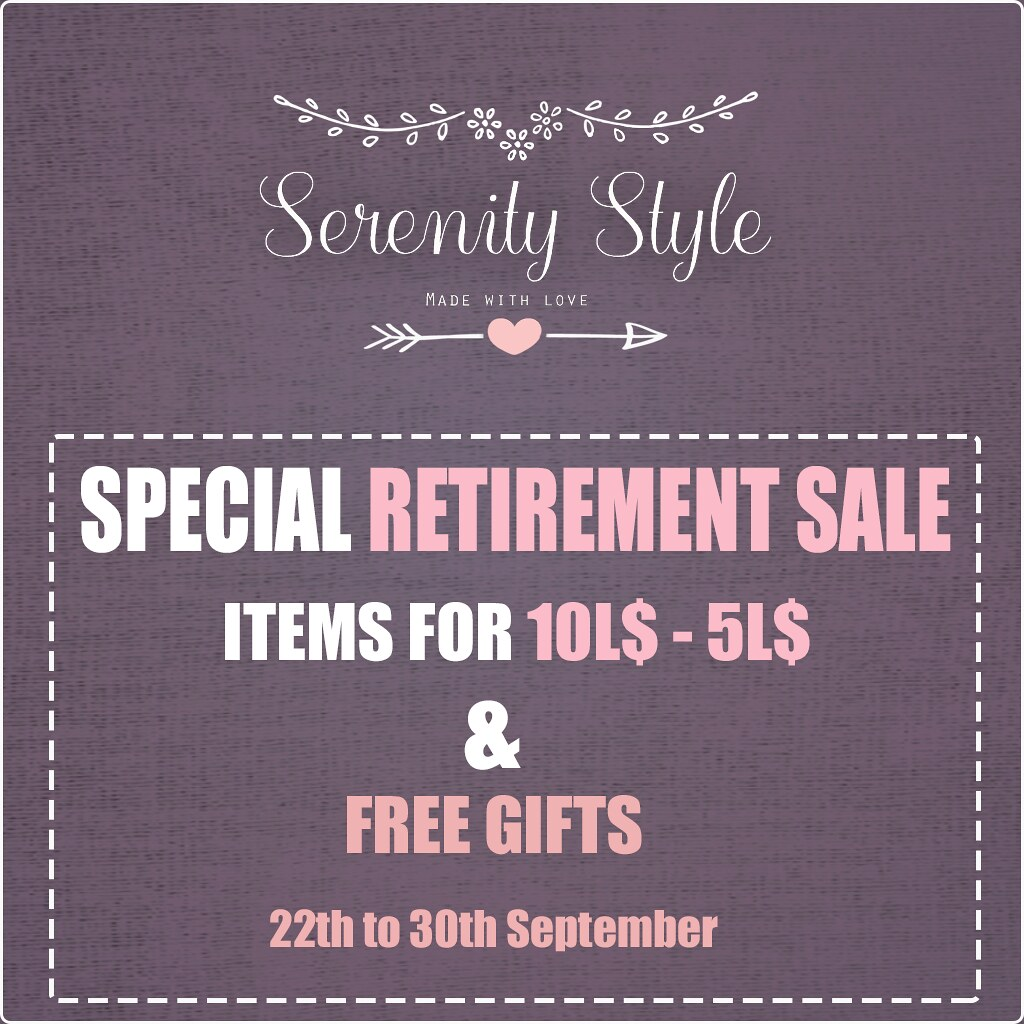 Serenity Style RETIREMENT SALE