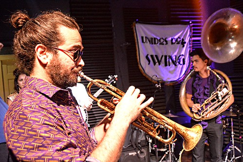 Unidos Do Swing at WWOZ - 10.20.18. Photo by Kichea S. Burt.