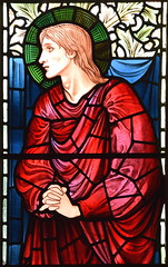 St John (Burne-Jones for Morris & Co, 1902)