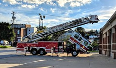 Tower 3 is back in service. It really is. For real. 28Sept2018. Westminster Fire Engine and Hose Co. 1