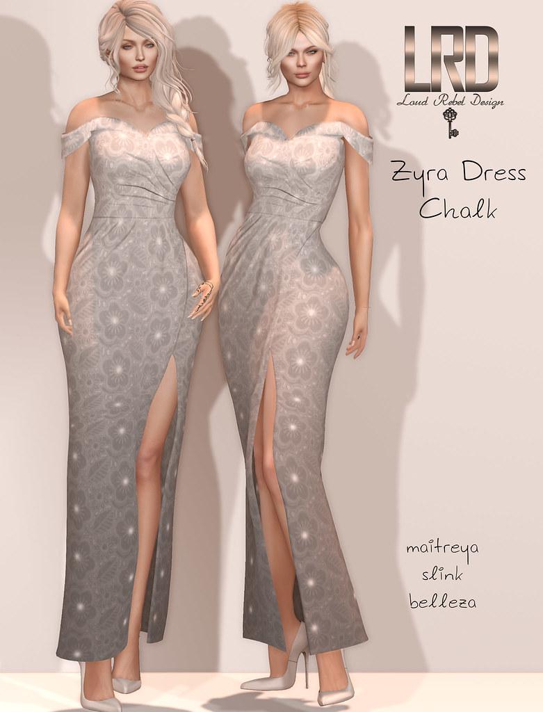 LRD Zyra dress Chalk - TeleportHub.com Live!