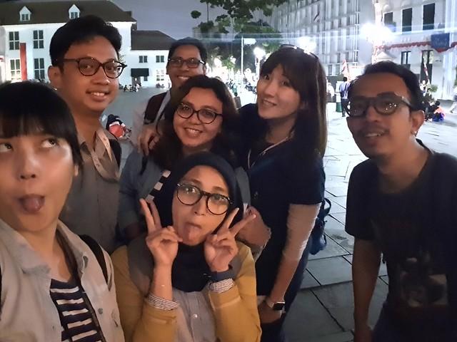 Selfie malam hari dengan kamera Galaxy Note 9 (Liputan6.com/ Agustin Setyo W)