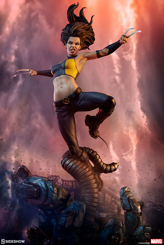 準備撕裂敵人的魄力姿態再現!! Sideshow Collectibles Premium Format Figure 系列【X-23】1/4 比例全身雕像作品