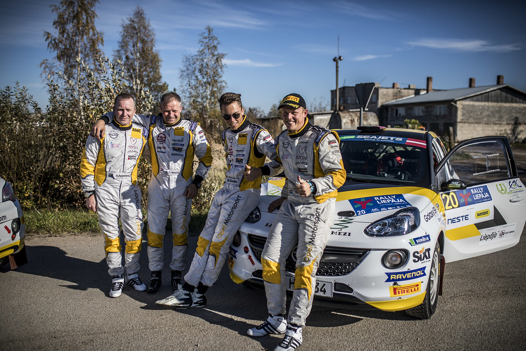 SESKS Martins, (LVA), ADAC Opel Rallye Junior Team, Opel Adam R2, Portrait KRISTENSSON Tom, (SWE), ADAC Opel Rallye Junior Team, Opel Adam R2,Portrait during the 2018 European Rally Championship ERC Liepaja rally,  from october 12 to 14, at Liepaja, Lettonie - Photo Gregory Lenormand / DPPI