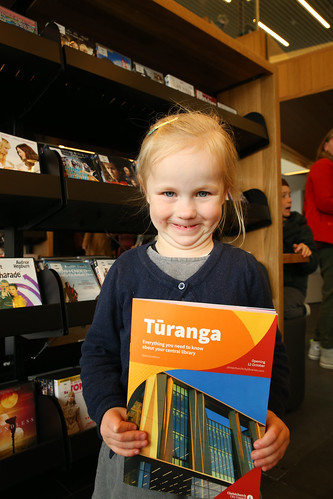 Girl with Tūranga magazine