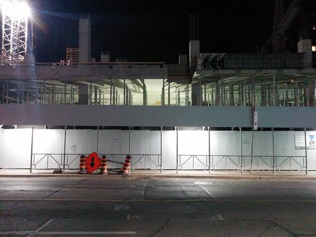 Illuminated, The Clover on Yonge #toronto #yongestreet #cloveronyonge #condos #construction #white #lights