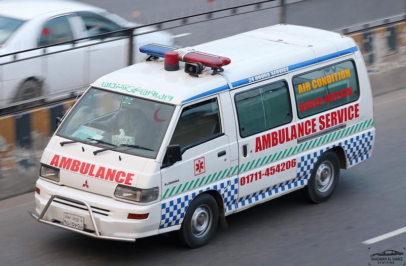 Mitsubishi L300 ambulance, Bangladesh.