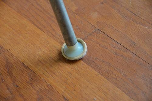 """1"""" Formed Felt Sliders on Eames Shell Chair Feet"""