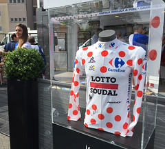 Thomas De Gendt's polka-dot jersey, 2016 Tour de France - Photo of Beaupuy