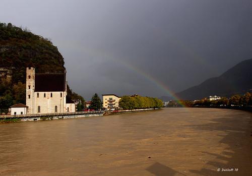 piena dell'Adige a Trento