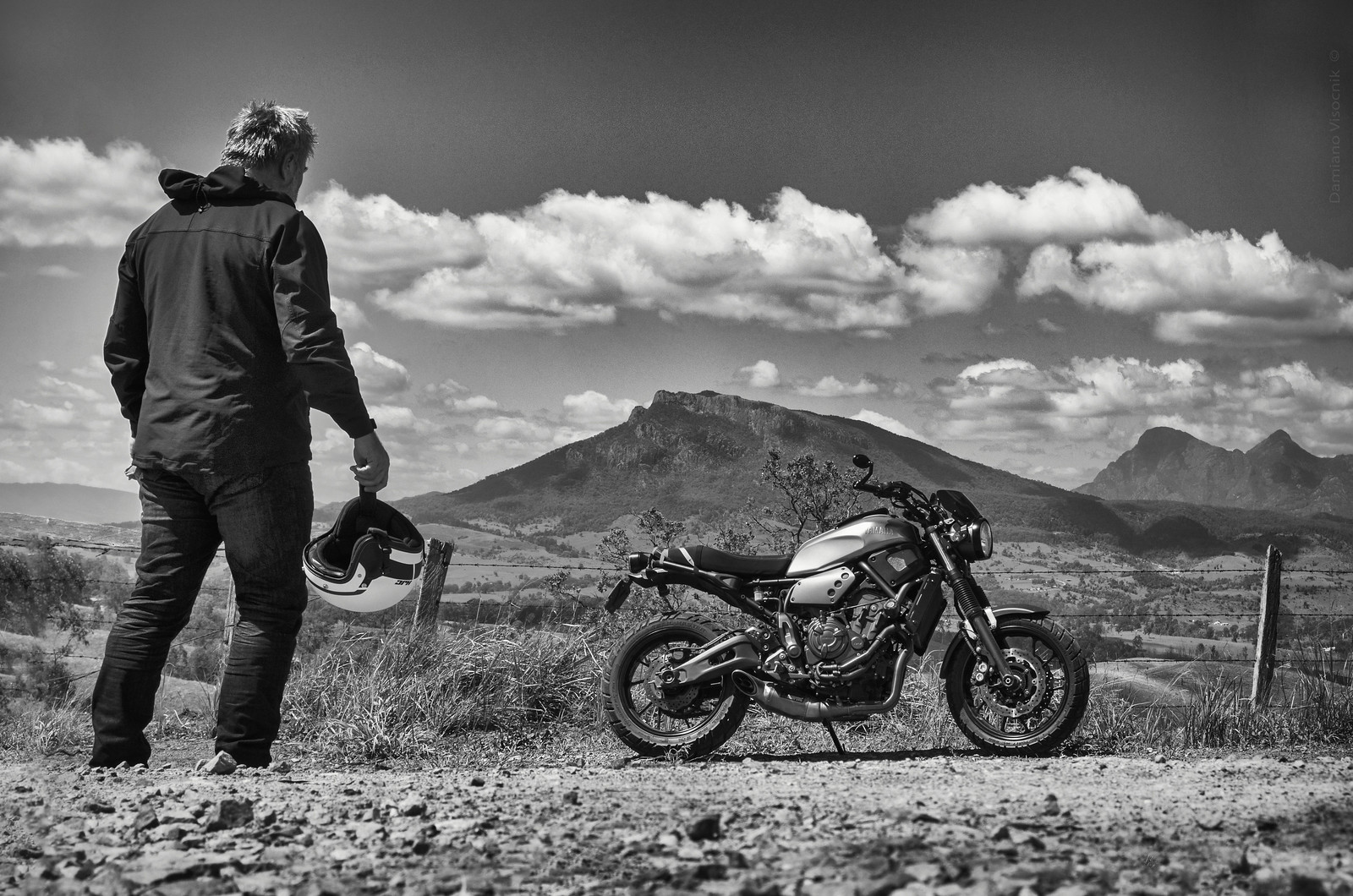 back to riding_bw