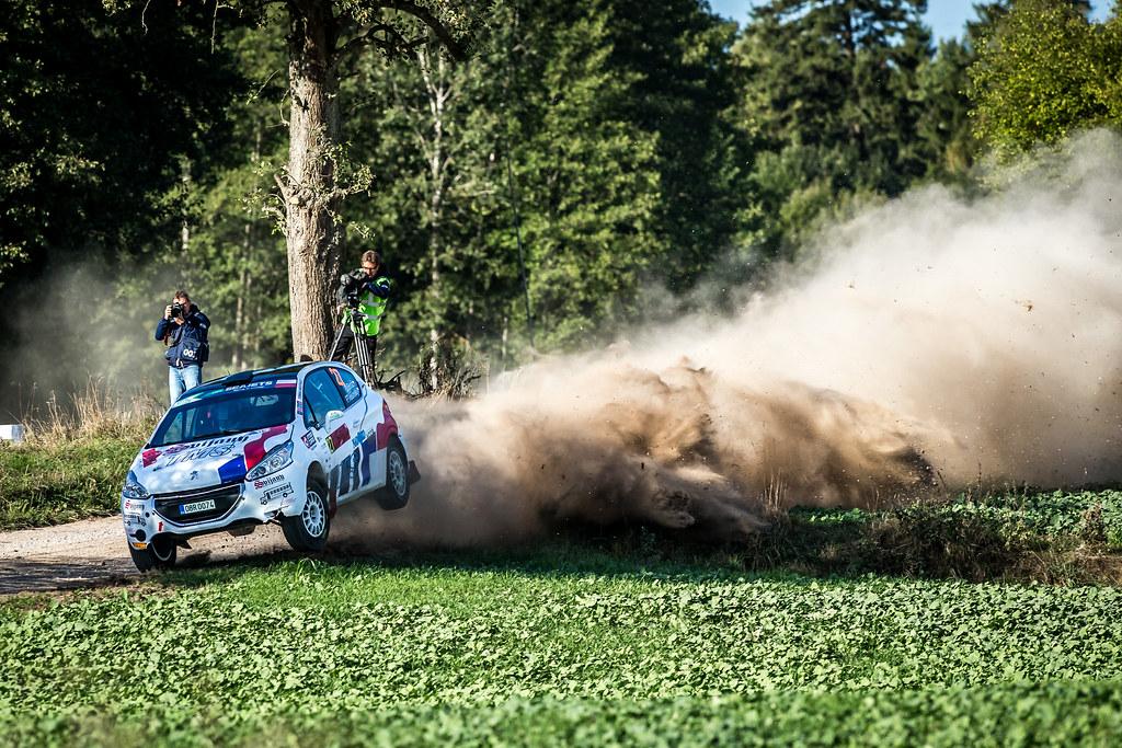 27 BROZ Dominik (CZE), TESINSKY Petr (CZE), ACCR CZECH RALLY TEAM, Peugeot 208 R2, action during the 2018 European Rally Championship Rally Poland at Mikolajki from September 21 to 23 - Photo Thomas Fenetre / DPPI