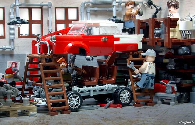 Vintage Garage Diorama Scene 5