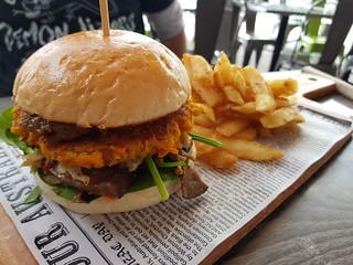 Vegan Chickpea Burger at Suburban Cafe