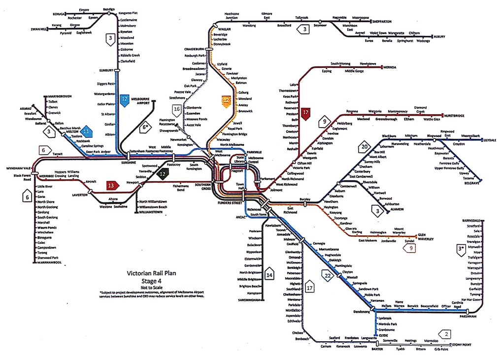 Victorian Rail Plan - leaked version October 2018 - Stage 4