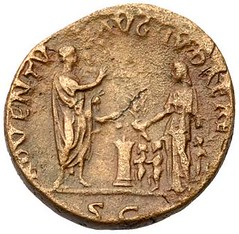 Hadrian ADVENTU AUG JUDAEA as reverse