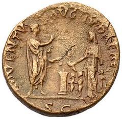 Hadrian ADVENTU AUG JUDAEA as reverse
