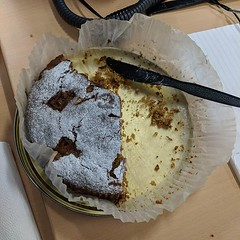 Good sign. Office apple cake down to less than half and it's not even 0930. Apples from my main supplier the excellent @nigel.stevenson5 gardens.