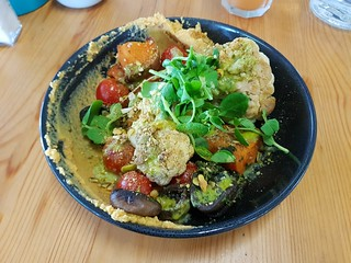 Roasted Veg and Hummus at The Smug Fig
