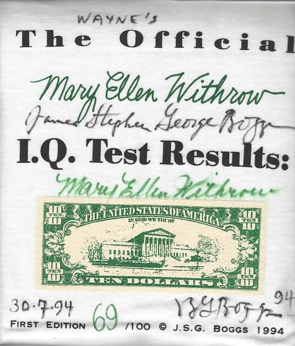 Boggs 1994 IQ Test T-Shirt