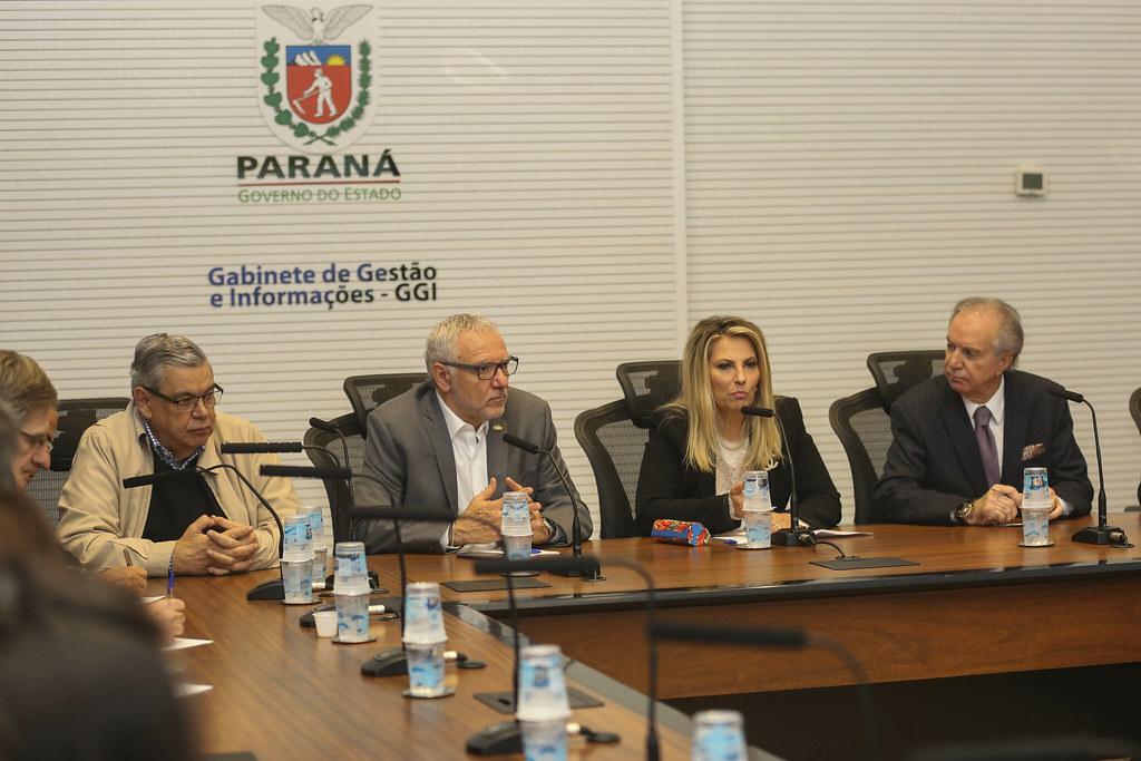 Reunião do G7 com a governadora Cida Borghetti