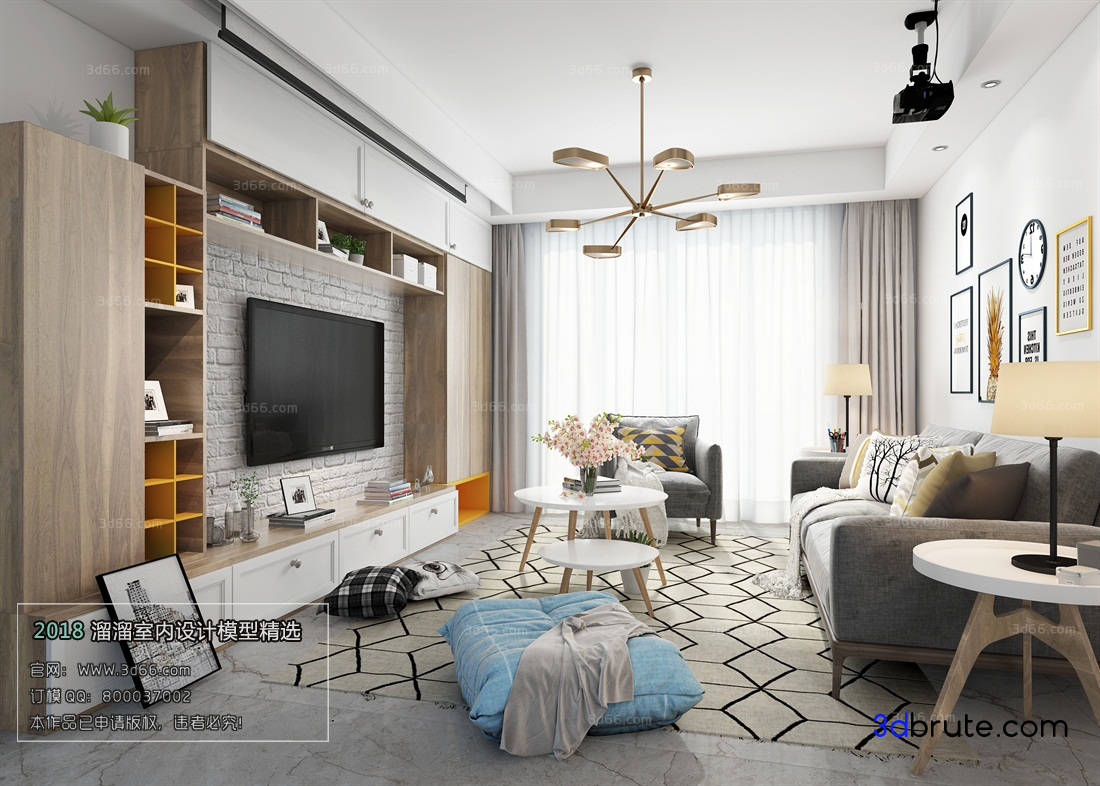 Exceptionnel Sell Nordicstyle Scandinavian Living Room 33   Download  3d Models Free   3dbrute