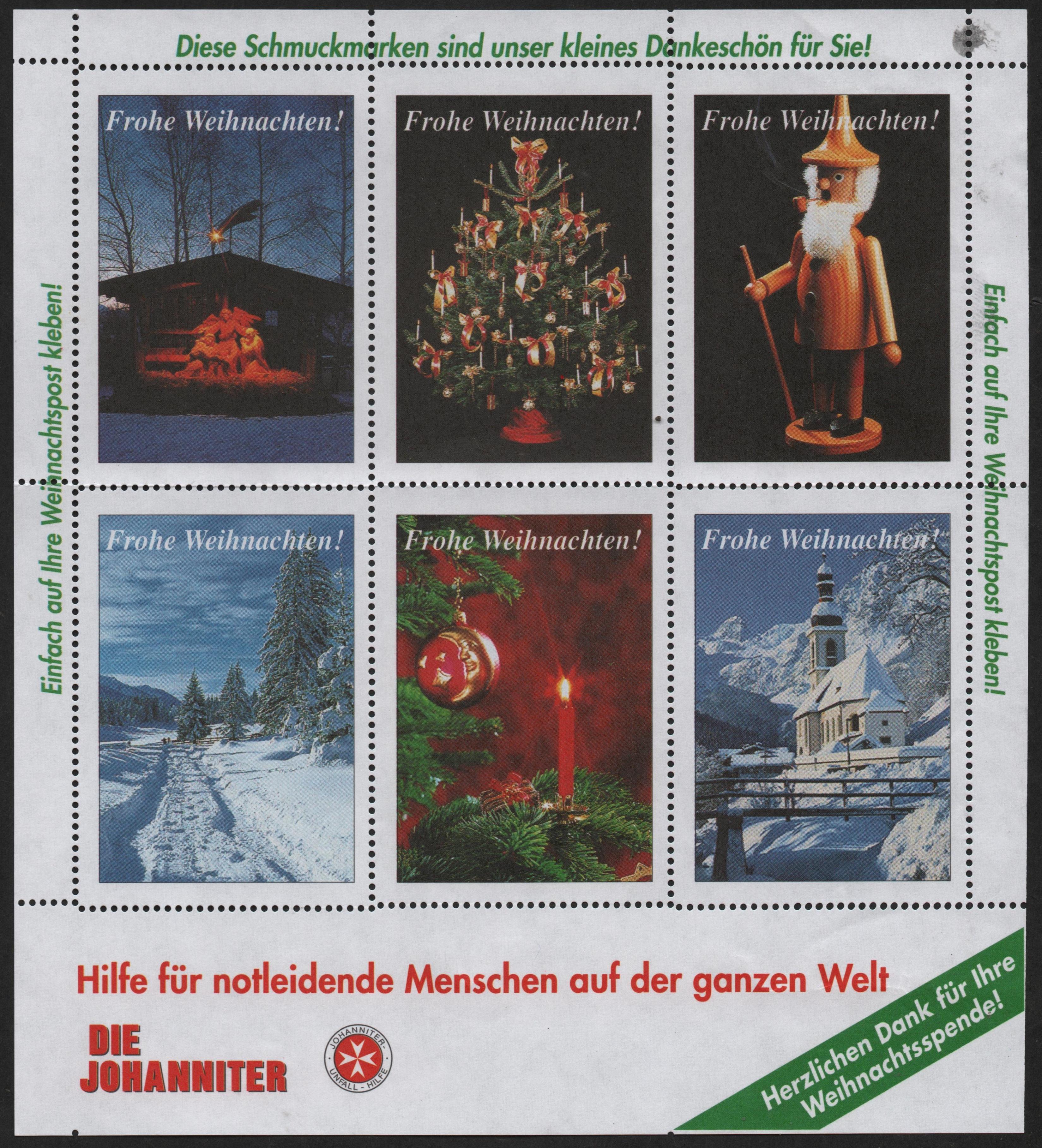 German Christmas charity seals