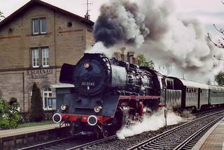 d-50 3545 am Bf Eschenau bei Heilbronn [Obersulm]