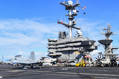 Flight operations aboard USS Harry S. Truman (CVN 75) during exercise Trident Juncture 18