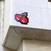 Art Deco, cherries and reactivated space invader PA_349 in Paris 7th