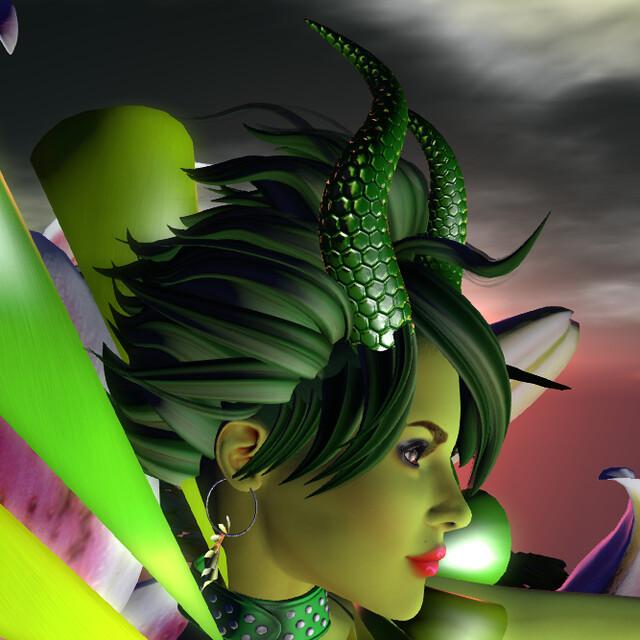 ASU - Demon's Delight hair side