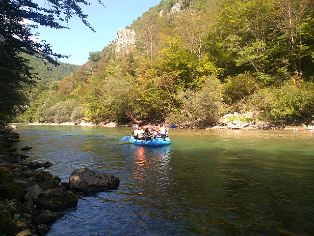 Neretva river raft down