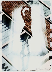 Lady dancer - double exposure analog film art photographer